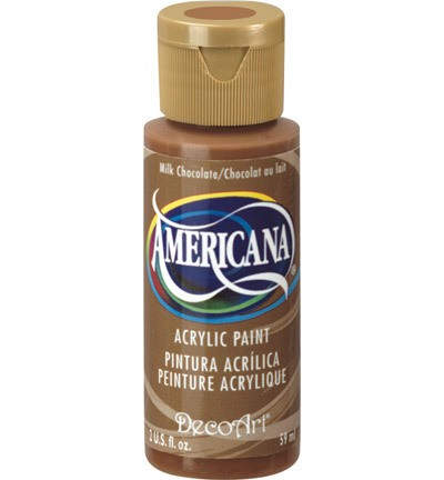 40188 Deco Art Americana Acrylverf 59 ML Milk Chocolate.