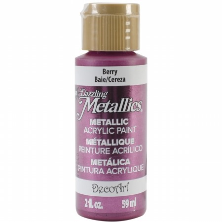 40192 Deco Art Dazzling Metallics 59 ML Berry (DA320).