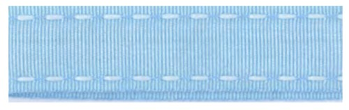 40200 Ribbon 16mm x 1mtr with white stitched end (06) Blue.