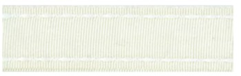 40201 Ribbon 16mm x 1mtr with white stitched end (03) Cream.