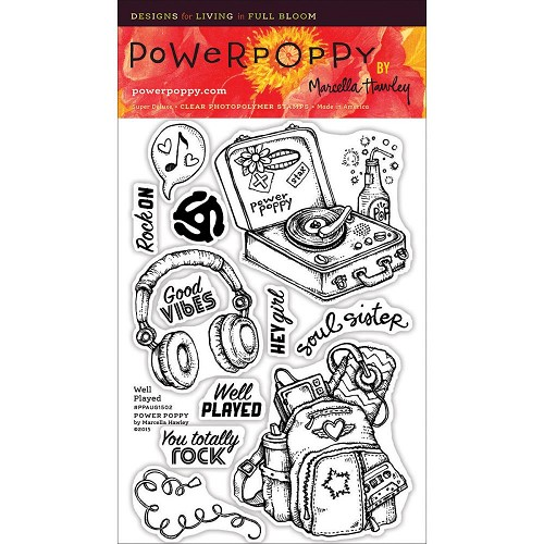 "40247 Power Poppy Clear Stamps 4""X6"" Well Played."