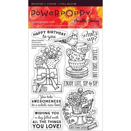 "40249 Power Poppy Clear Stamps 4""X6"" Short Stacks."