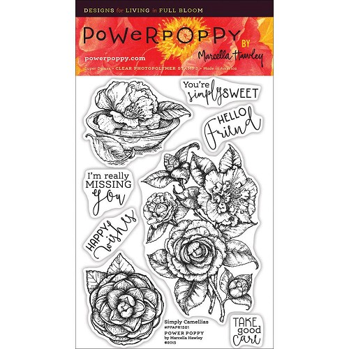 "40251 Power Poppy Clear Stamps 4""X6"" Simply Camellias."