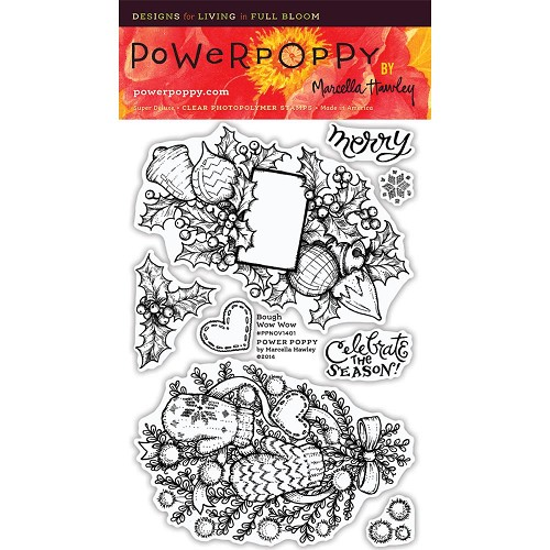 "40254 Power Poppy Clear Stamps 4""X6"" Bough Wow Wow."