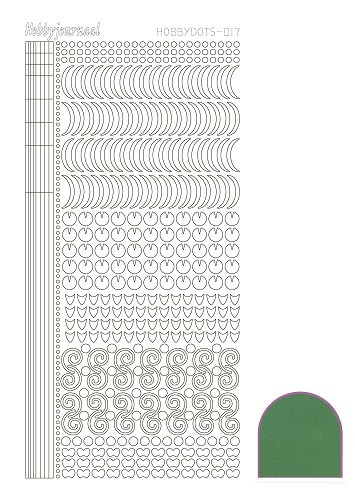 40310 Hobbydots Sticker - Serie 017 - Mirror - Green.