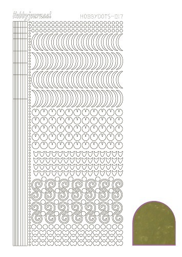 40311 Hobbydots Sticker - Serie 017 - Mirror - Gold.