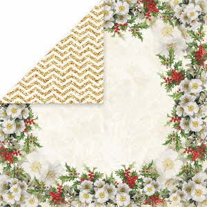 40437 Craft & You Design Dubbelzijdig Scrappapier 30,5x30,5cm White Christmas 01.