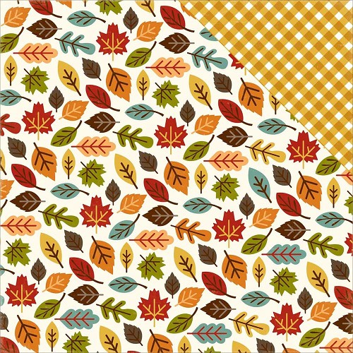 40635 Echo Park Fall is in the Air 30,5x30,5 cm Dubbelzijdig Papier Changing Leaves.