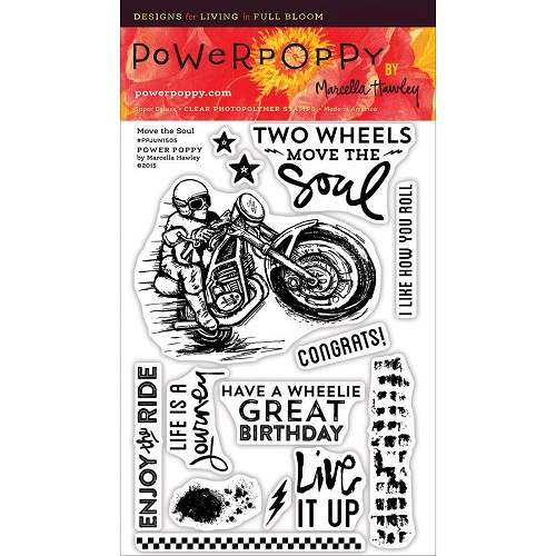 "40761 Power Poppy Clear Stamps 4""X6"" Move The Soul."