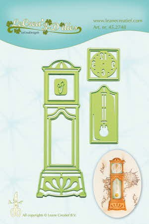 40899 Lea`bilitie Snij- & Embossingmal Grandfather Clock.