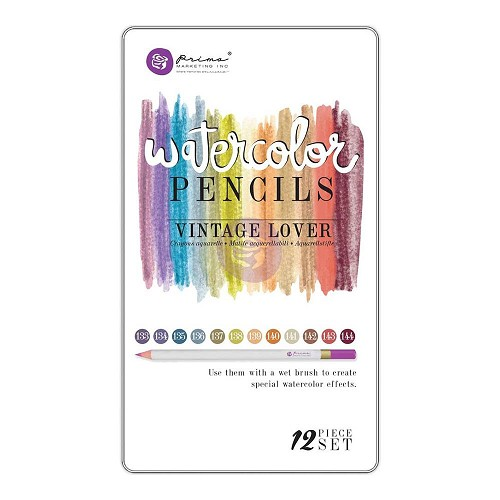 40972 Prima Marketing Mixed Media Watercolor Pencils 12/Pkg.