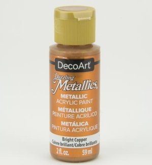 40978 Deco Art Dazzling Metallics Flesje 59 ML Bright Copper (DA337).