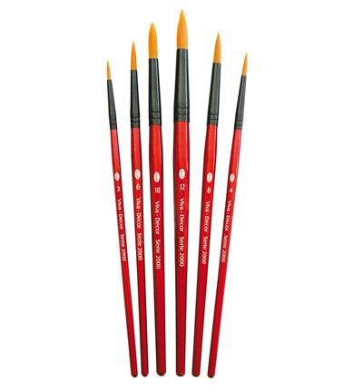 41133 Viva Artist Brush Set Rond Synthetisch 6pcs / 2, 4, 6, 8, 10, 12.