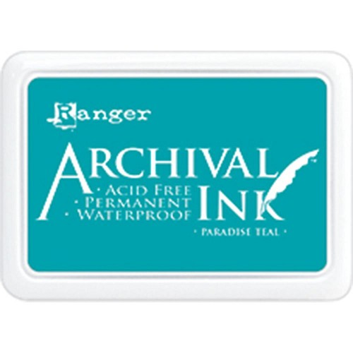 41218 Ranger Archival Ink Pad Paradise Teal.