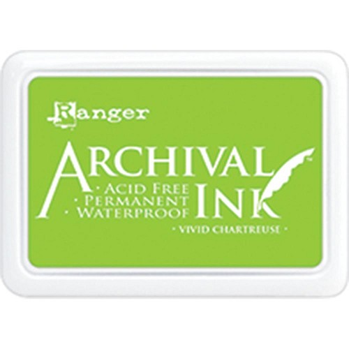 41221 Ranger Archival Ink Pad Vivid Chartreuse.