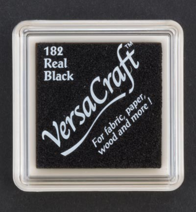 41383 VersaCraft Inkpad Klein Real Black.