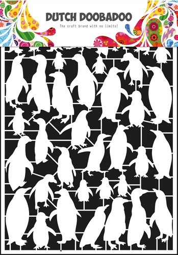 42063 Dutch Doobadoo Dutch Paper Art pinguïn - A5 (472.948.046).