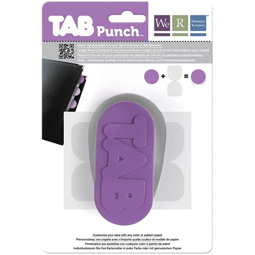 "42237 We R Memory Keepers Tab Punch Circle, 1.5"" (71311-1)."