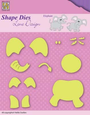 42265 Shape Dies Lene Baby Serie Build-up Elephant (SDL031).