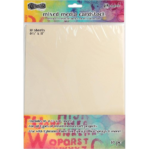 42412 Dylusions Mixed Media Cardstock 10/Pkg A4  (DYA53804).