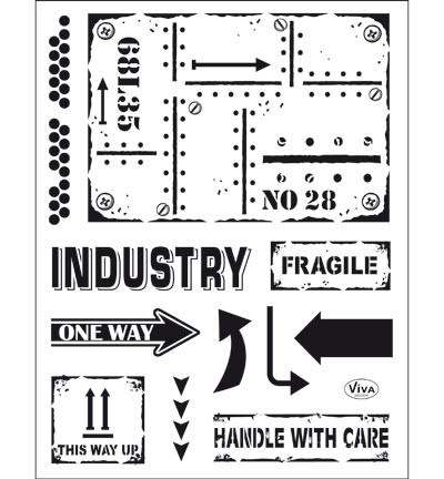 42548 Viva Clearstamps 14x18cm Industriel Style.