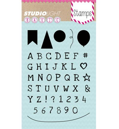 42646 Studio Light Stamp Basics Alphabet (STAMPSL159).