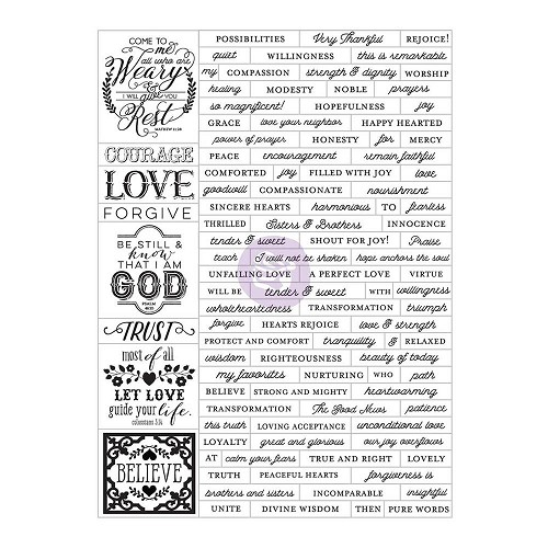 42910 Prima Marketing Love, Faith, Scrap Planner Stickers Words (589844).