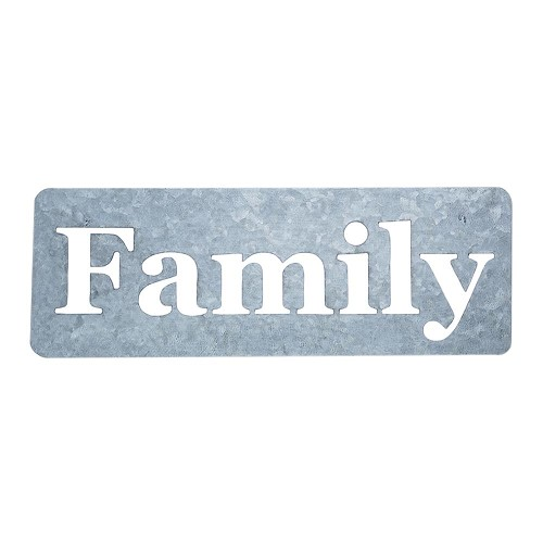 42966 Jillibean Soup Mix The Media Galvanized Stencil Family Word 10x28 cm.