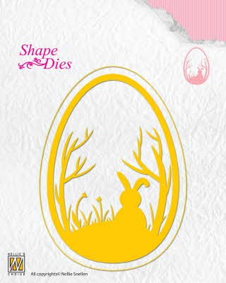42978 Nellie Snellen Shape Dies Easter Egg (SD125).