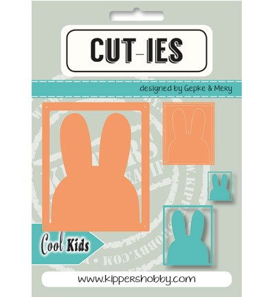 43016 Cut-ies Cool Kids Rabbit 2pcs / 63 x 52mm / 31 x 26mm.