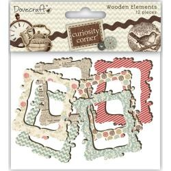 43022 Curiosity Corner Wood Elements Frames 6x7 cm.
