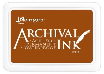 43284 Ranger Archival Ink Sepia (AIP06657).