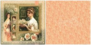 43290 Graphic 45 Portrait of a Lady Dubbelz. Papier 30,5x30,5 cm Portrait of a Lady (4501495).