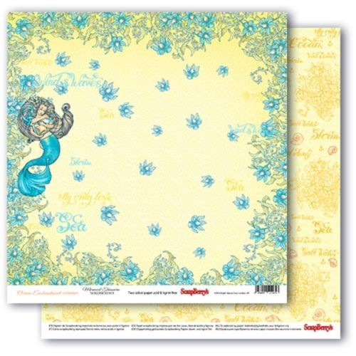 43396 Scrapberrys Ocean Enchantment Dubbelz. 30,5x30,5 cm Mermaid Treasures.