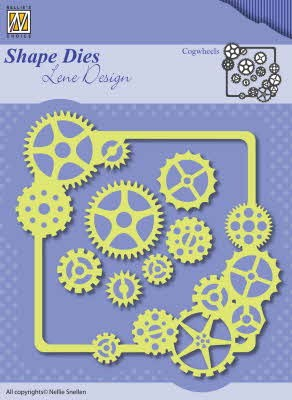 43460 Nellie Snellen Shape Dies Men Things Cogwheels (SDL038).