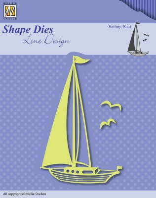 43461 Nellie Snellen Shape Dies Men Things Sailingboat (SDL039).
