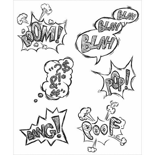 43586 Tim Holtz Cling Stamps Crazy Thoughts (CMS238).
