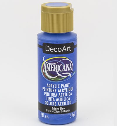 43674 Deco Art Americana Acrylverf 59 ML Bright Blue (DA351-3).