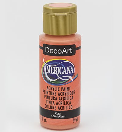 43679 Deco Art Americana Acrylverf 59 ML Coral Blush (DA346-3).