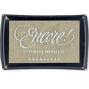 43712 Encore Ultimate Metallic Ink Pad Champagne.