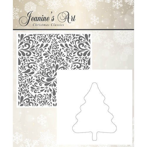 43876 Embossing Folder - Jeaninnes Art - Christmas Classics (JAEMB10002).
