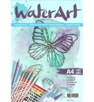 43933 Waterart Papier 20 sheets / A4/ 185 grs (1067).