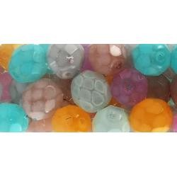 64269 Square Tube Glass Beads 2oz Snake Color Mix.