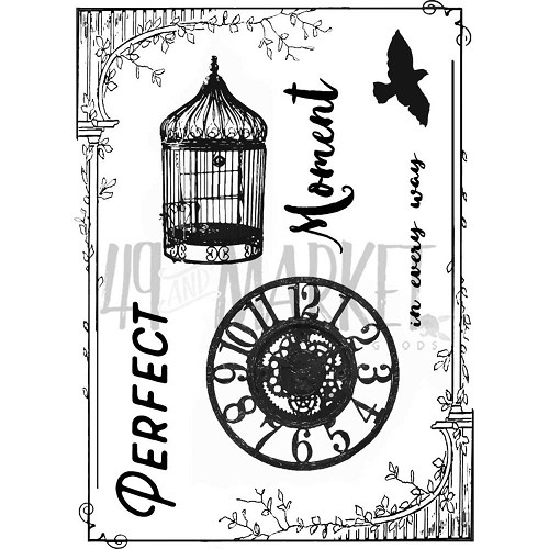 44403 49 & Market Clear Stamps 7x9 cm Scents of Nature.