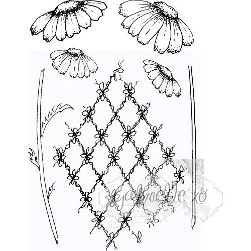 44408 49 & Market Clear Stamps 10x14 cm Gabi`s  Daisies.
