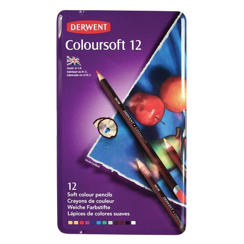 44527 Derwent Coloursoft Pencil 12 Stuks Blik.
