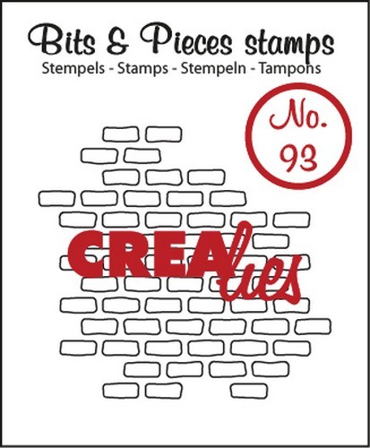44546 Crealies Clearstamp Bits&Pieces no. 93 Open Bricks Small 40x44 mm (CLBP93).