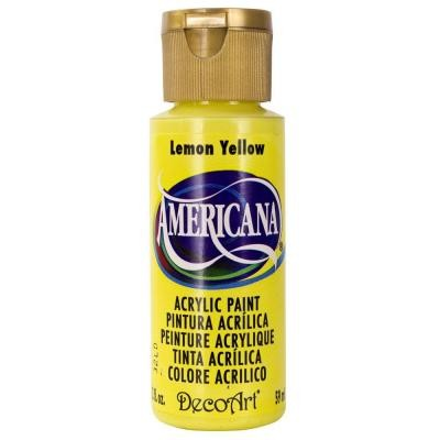 44582 Deco Art Americana Acrylverf Flesje 59 ML Lemon Yellow (DA011).