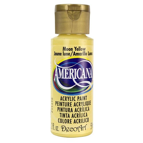 44583 Deco Art Americana Acrylverf Flesje 59 ML Moon Yellow (DA07).