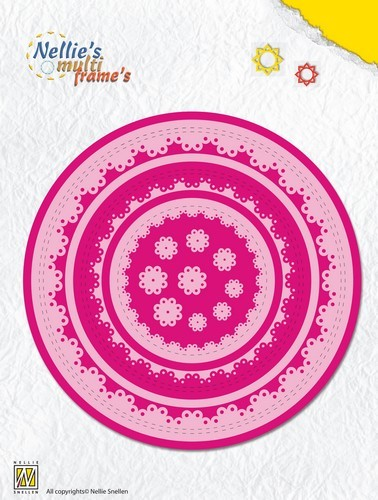 44710 Nellies Choice Multi Frame Die - Rond Doily 1 (MFD106).